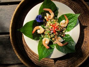 Yum Miang (spicy leaf wrap salad)