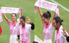 A perfect match from CU, Toon-Koy with love all around and the world is painted in pink!