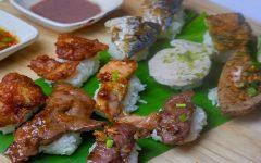 "Thai Fusion Style Sushi! Check it out at ""Mhee Rai Kin Food & Feel"""